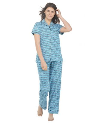 Peacock Galore Classic Pajama Set
