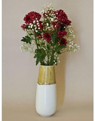Cream Dipped Vase