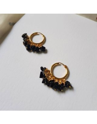 Dark Black Baali Earrings