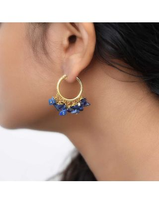 Deep Blue Baali Earrings