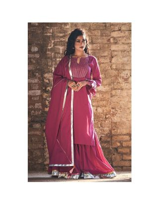 Purple Sharara set