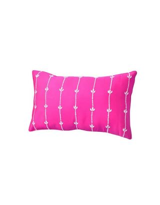 Pink Glaze Cotton Long Cushion Cover