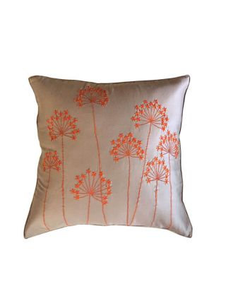 Beige with Orange Trees Embroidery
