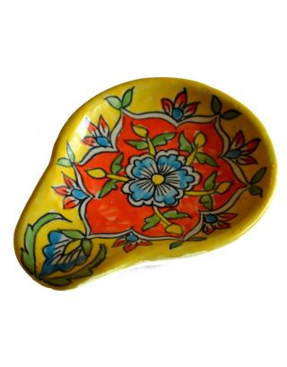 Yellow Mughal Spoon Rest