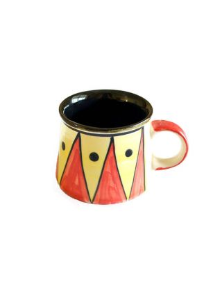 Abstract Design Red Black Mug
