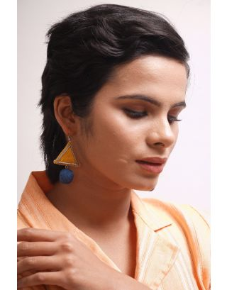 Yellow Geometrical Earrings