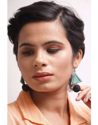Sea Green Geometrical Earrings