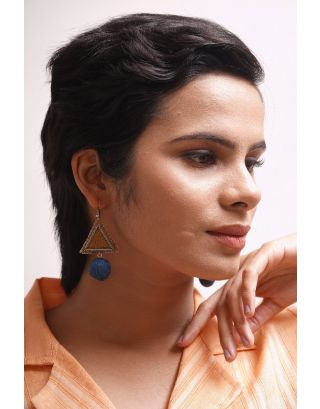 Mustard Geometrical Earrings