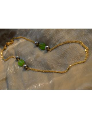 Translucent Green Beads Necklace