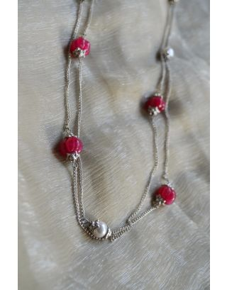 Red Melon Beads Necklace