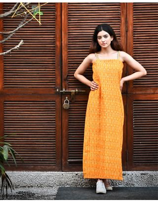 Mustard Ikat Slip Dress