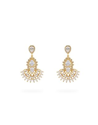 Yellow Gold Plated Jasmine Earrings