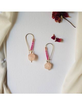 Exotic Pink Hoop Earrings