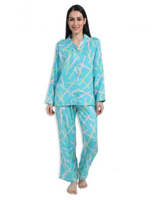 Turquoise Expressions Nightsuit