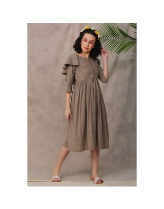 Fawn Front Button Dress