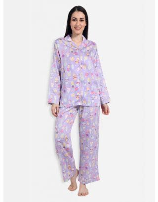 Lavender Feather Weather Nightsuit