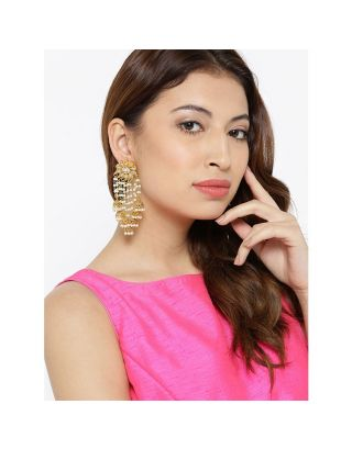 Kundan Pearl Drop Jhumki Earrings