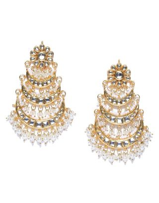 Kundan offwhite Beads Earnings