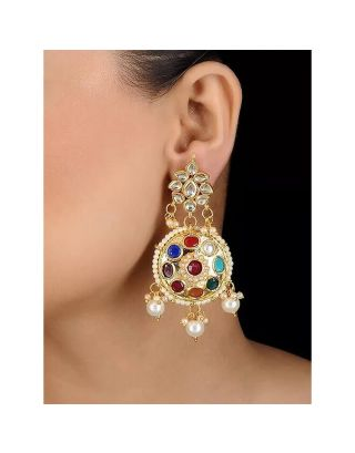 Navratan Kundan Earrings