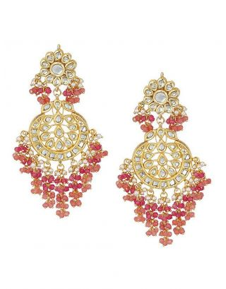 Kundan Inspired drop earrings