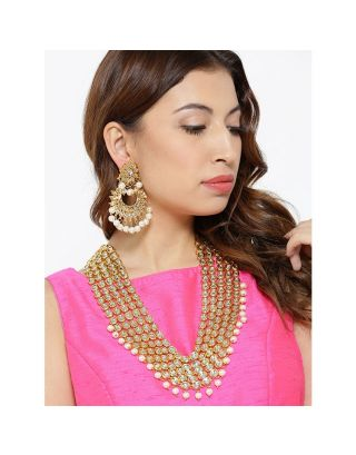 Royal Kundan Necklace With Chandbali