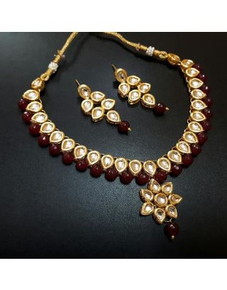 Kundan Ruby Necklace set