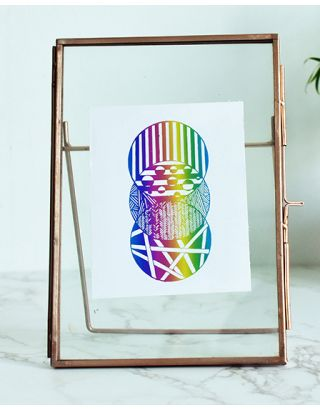 Rainbow Circle Floating Frame