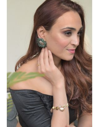 Gardishi Green Jades Earrings