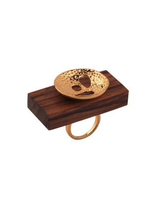 Wooden Hatched Ring