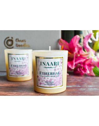 Ethereal Lilac Jasmine Scented Candle Jars Set Of 2