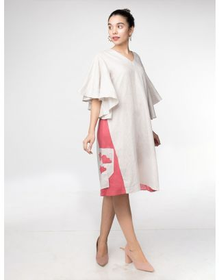 Flared Sleeves A-line Dress