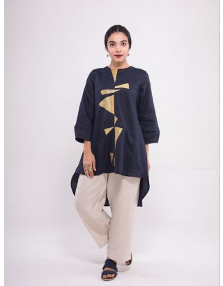 Triangular Cut Work Tunic