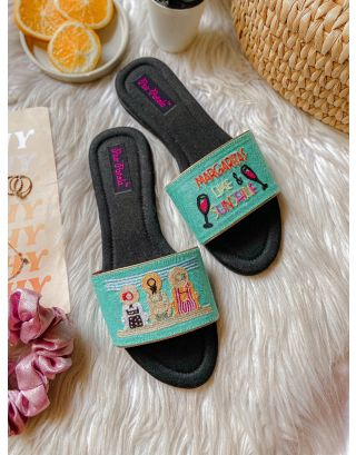 Sip And Soak Embroidery Slip Ons