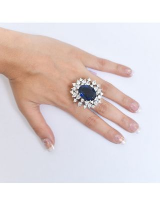 Blue Stone Zircon Ring
