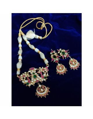 Multicolor Kundan Stone Necklace Set
