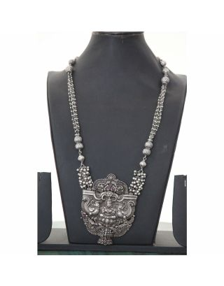 Laxmi Silver Oxidised Necklace