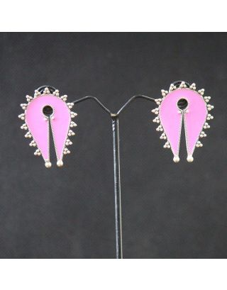 Pink Silver Studs