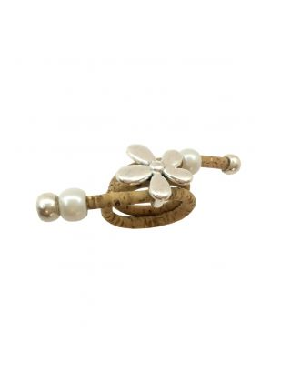 Beige Buds & Bows Ring
