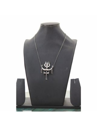 Trishul Silver Necklace