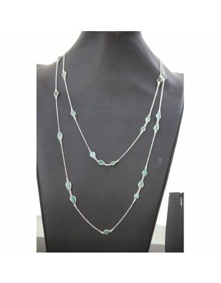 Green Craving Stones Double Layered Necklace