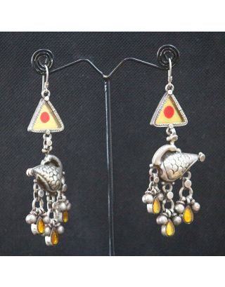 Silver Painted Earring
