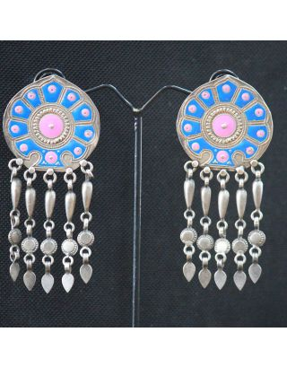 Blue Painted Earring