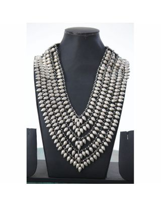 Silver Antique Layered Necklace