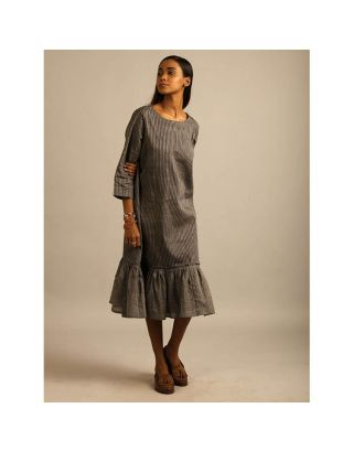 Grey Block Printed Dress