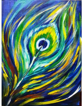 Feather Canvas Painting
