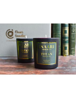 Titan Woody Musk Scented Candle Jars Set Of 2