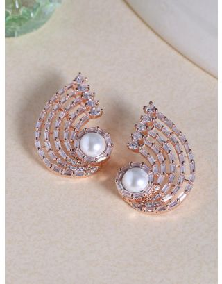 Swirling Pearl Radiance Studs