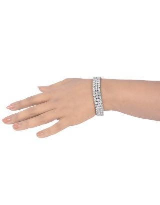 3 Row Round Diamond Bracelet
