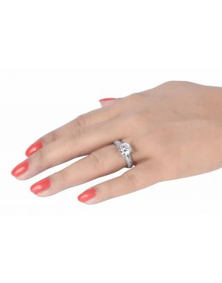Round Solitaire Silver Ring