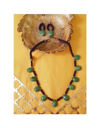 Green Beads Necklace Set